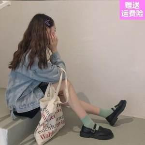 制服仙女森系小皮鞋可爱女高跟英伦复古JK圆头日系韩版可爱风学生