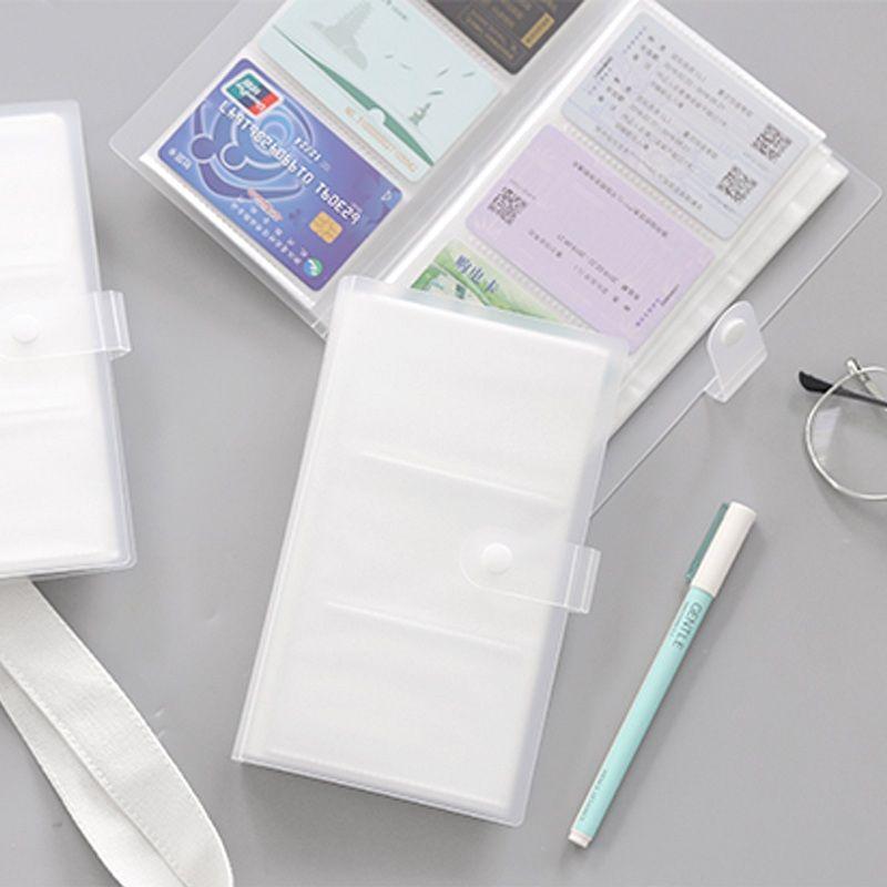 小卡收纳册学生火车票卡册收藏册拍立得简约名片夹便携式透明卡包