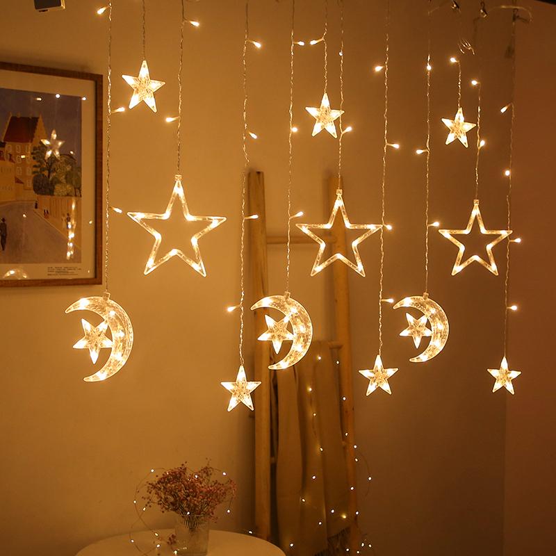 遥控LED星星灯房间布置宿舍装饰灯窗帘小彩灯闪灯串灯满天星挂灯