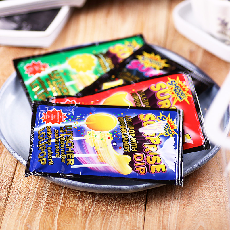 Hleks halix fun candy lollipop jump candy combination mixed fruit flavor 48g childrens snack