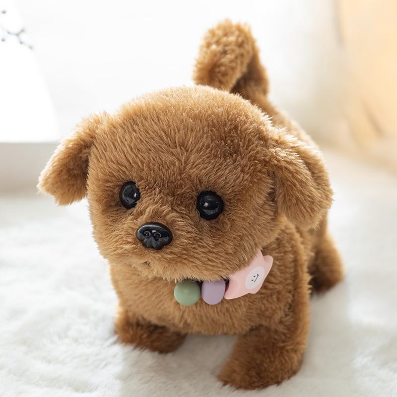 タオバオ仕入れ代行-ibuy99|电子玩具|儿童电动小狗玩具狗狗走路会叫仿真毛绒宠物狗会走宝宝电子机器狗