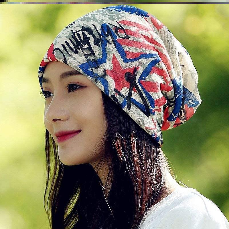South Korea new head cover chemotherapy hat gauze thin confinement cap winter postpartum hair loss prevention summer womens hat wig