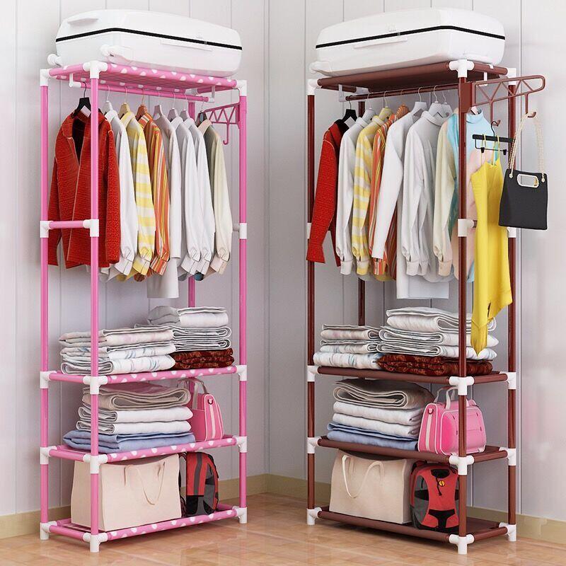 【多层分类收纳】衣帽架落地挂衣架卧室客厅简易衣服架创意置物架