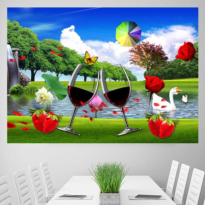 中國代購 中國批發-ibuy99 壁画 客厅餐厅装饰画立体墙贴自粘电闸箱现代背景墙壁画床头防水卧室