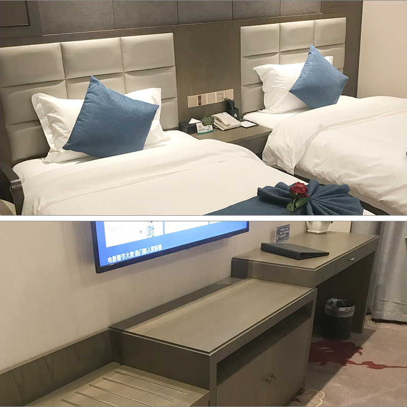 Hotel, hotel, apartment, dormitory, 1.2m large bed, standard room, full set of furniture, soft bag, bedside, integrated computer TV table