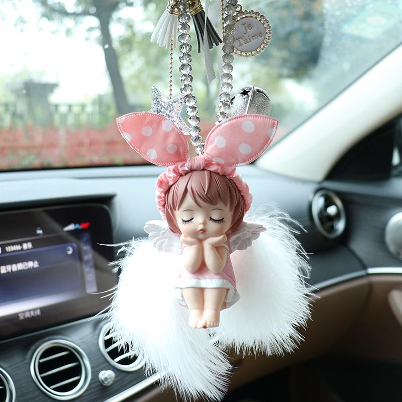 汽车高档挂件车内吊饰可爱天使车上后视镜女神款吊坠装饰用品大全