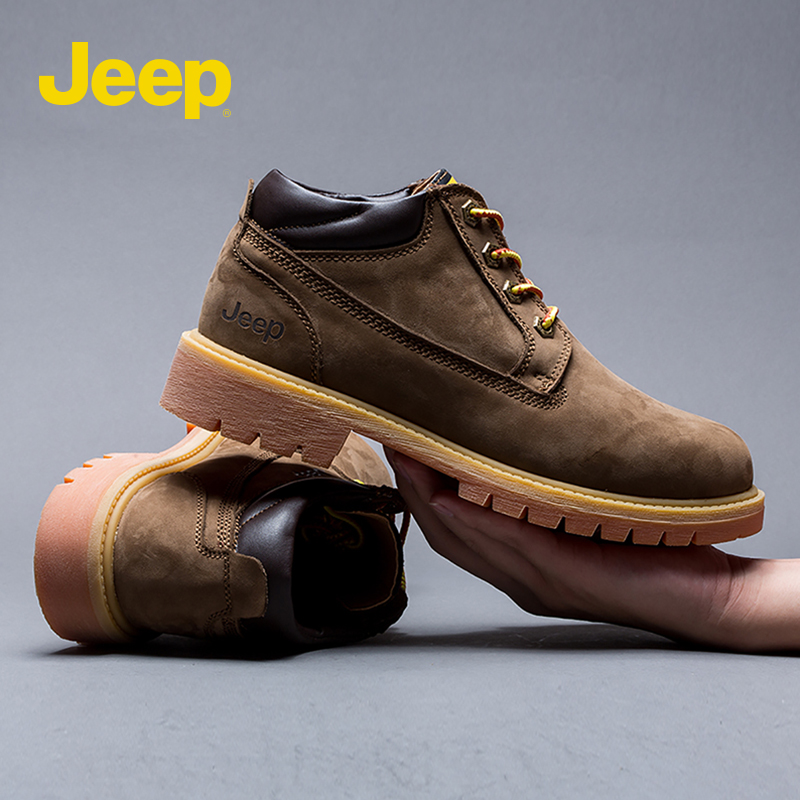 Jeep Jeep Martin boots mens 2021 spring trend British desert outdoor leisure high top warm tooling shoes