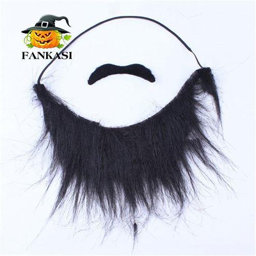 万圣节狂欢节黑色大胡子2PCSB胡子涤纶材质化妆舞会装饰影视道具