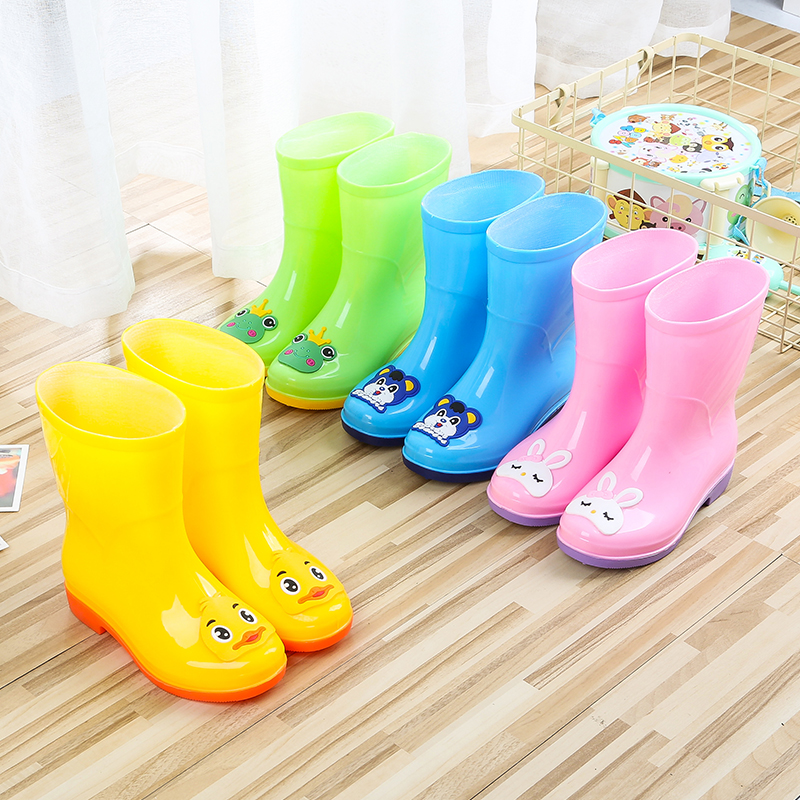 Tigno childrens rain shoes, female students Korean version of anti-skid rain boots, mens kindergarten fashion, middle-aged childrens lovely waterproof shoes