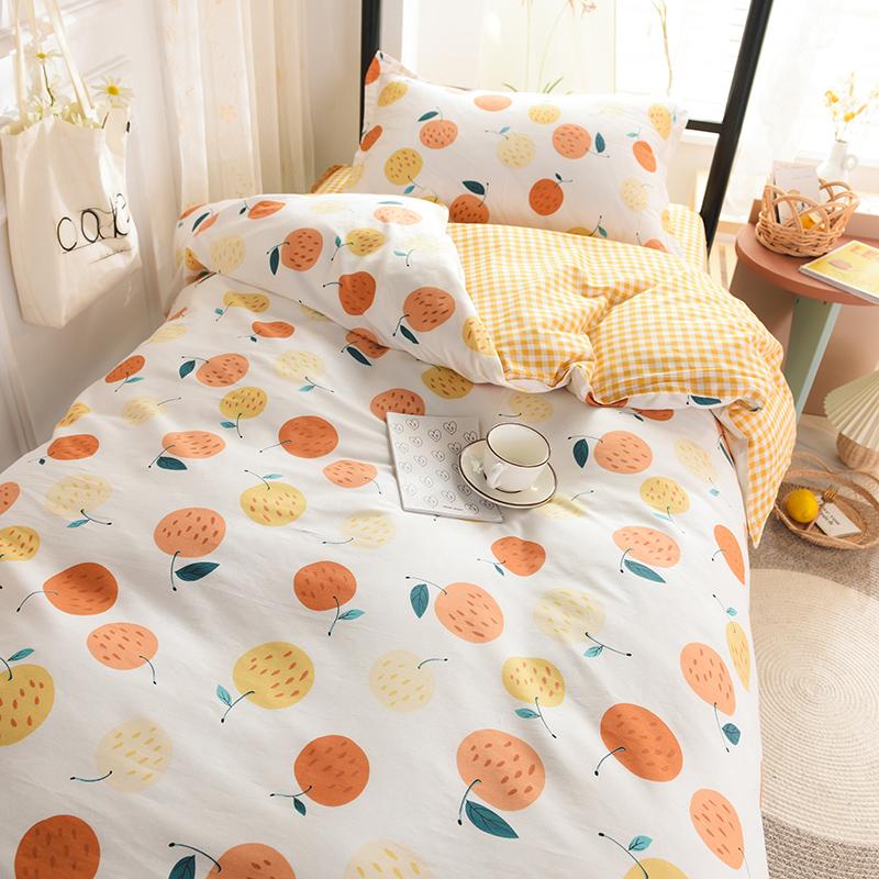 学生宿舍床上三件套四件套纯棉床单好用吗