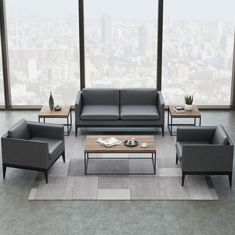 办公家具沙发茶几组合商务会客服装4S店休闲接待区沙发现代简约
