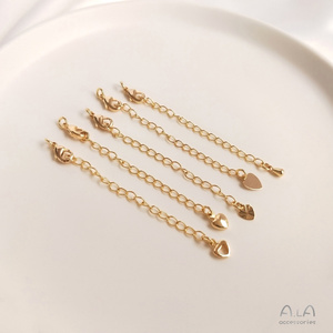 14K包金保色尾鏈延長鏈自制手鏈項鏈diy手工飾品配件手作首飾材料