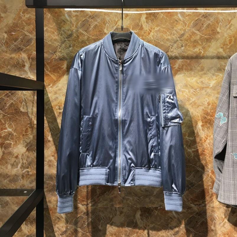 马鞍口袋 20AW 新品缎面雾霾蓝飞行员外套