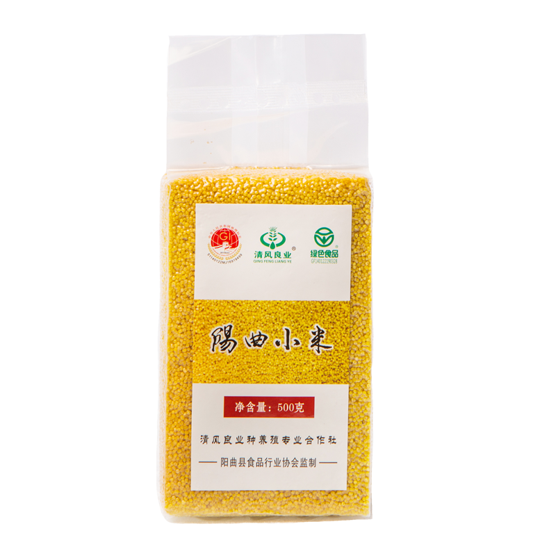 Yangqu millet 500g, golden rice, farmhouse millet porridge, Shanxi specialty, Yangqu millet, yuezi rice