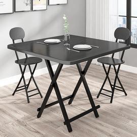 可折叠桌简约餐桌出租屋家用简易小户型租房方桌饭桌吃饭摆摊桌子图片
