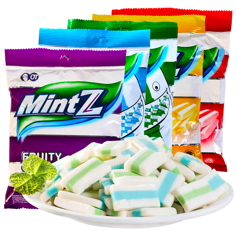 Mintz Mint Mintz cherry flavor milk candy cool candy soft candy snack net red imported from Indonesia