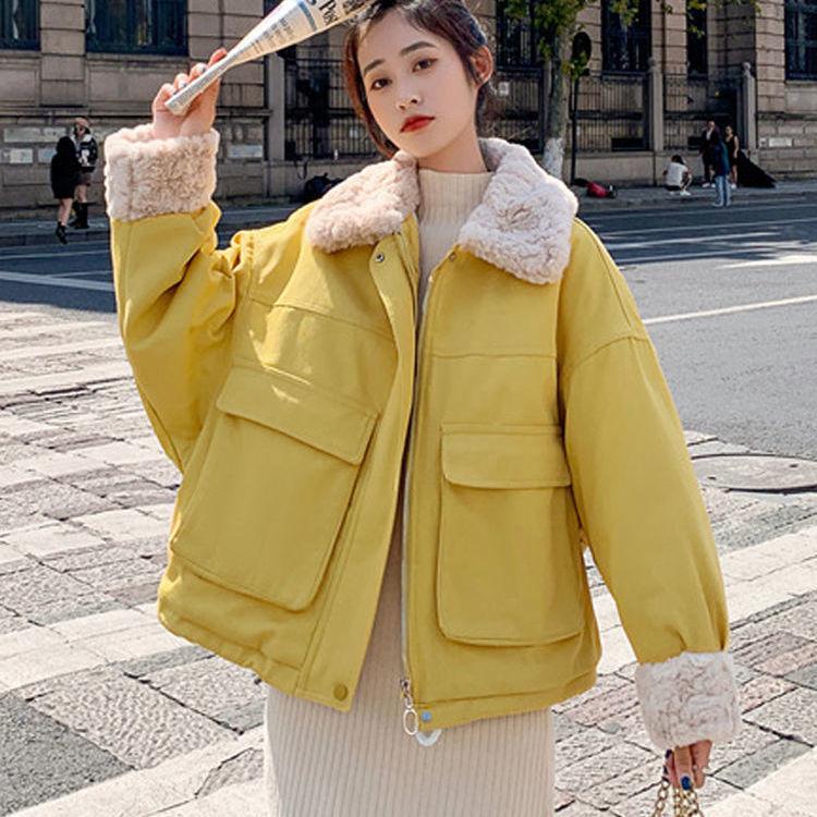 冬季棉衣女学生ins韩版宽松短款日系棉服oversize女小个子棉袄潮