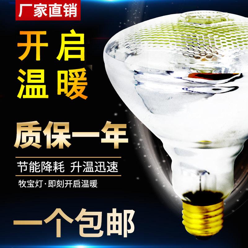 Heat preservation lamp adjustable temperature piglet heating bulb waterproof explosion proof pet heat preservation lamp heating baking lamp breeding equipment