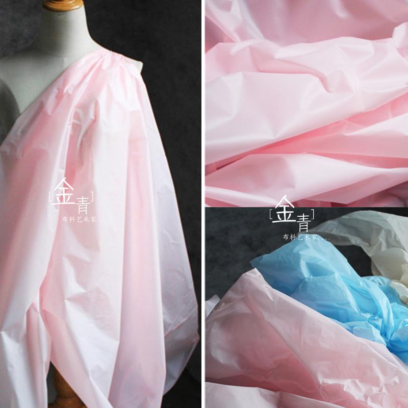 Three kinds of color light waterproof design paper film modeling raincoat film cloth creative profile design clothing cloth