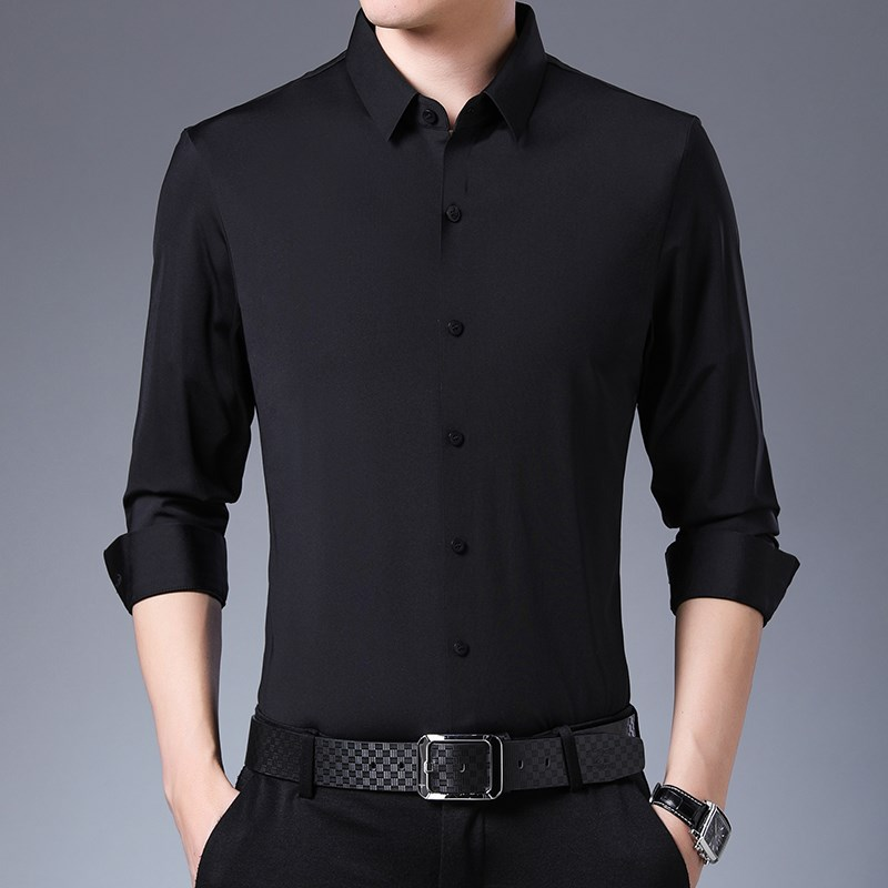 Jinqian clothing store [factory direct sales] 2020 new business leisure silk shirt.