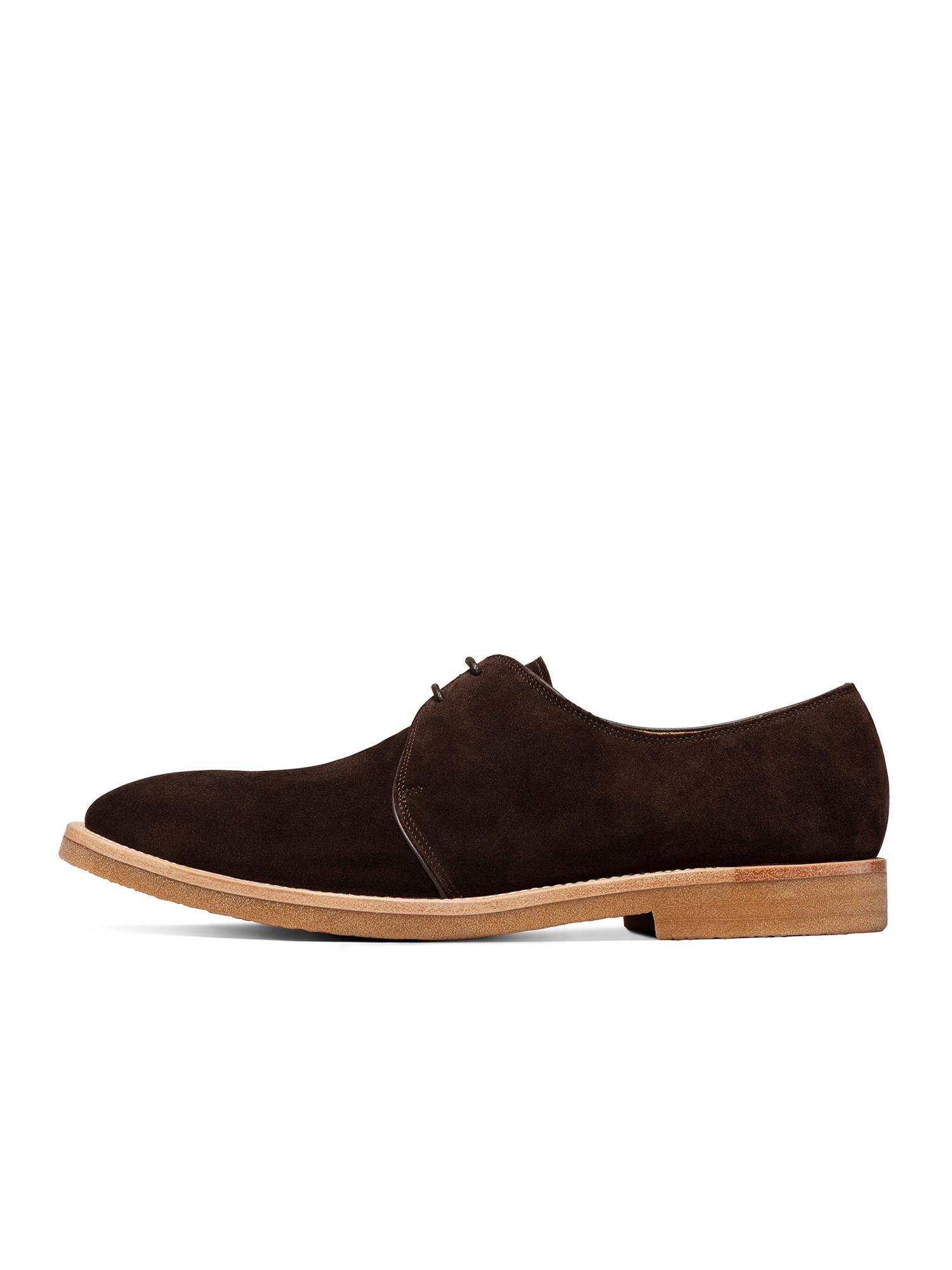 高档ThomWills男鞋反绒皮鞋男休闲复古商务英伦德比鞋低帮沙漠鞋