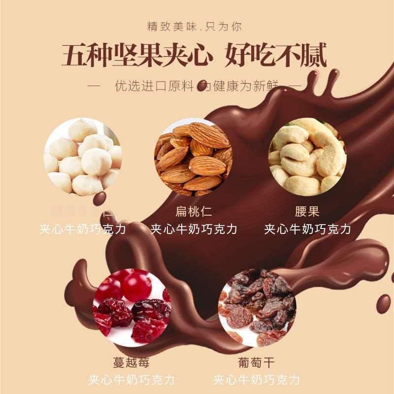 玛汭河腰果夹心巧克力豆夹心果仁巧克力零食80g澳洲Murray River