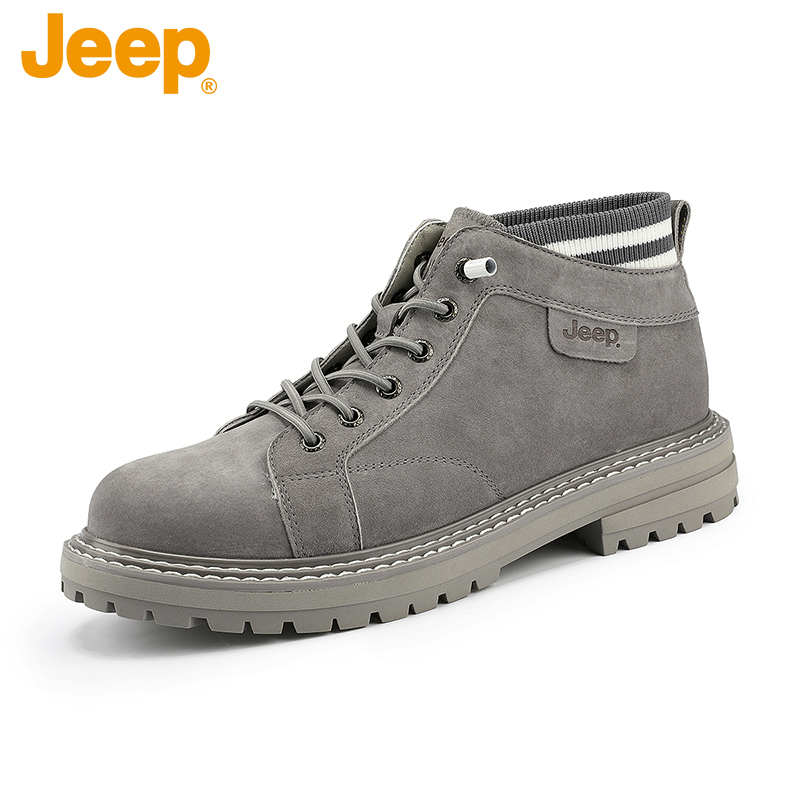 Jeep middle top mens shoes fashion British Martin boots mens winter new warm casual fashion work boots