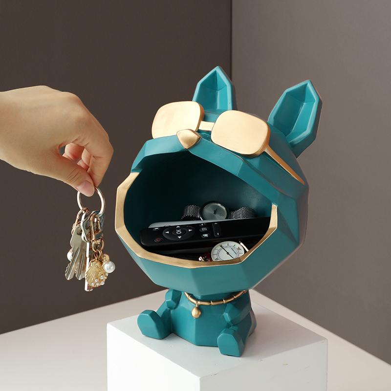 门口放钥匙收纳摆件创意轻奢玄关