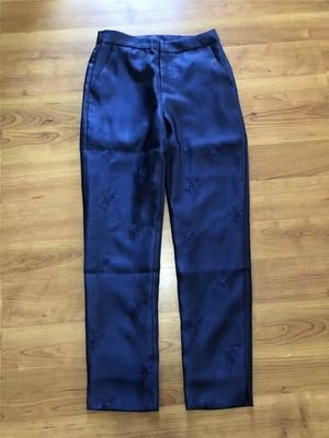 新品自制 特价回馈~小花刺绣光泽度极强修身显瘦西装裤复古长裤