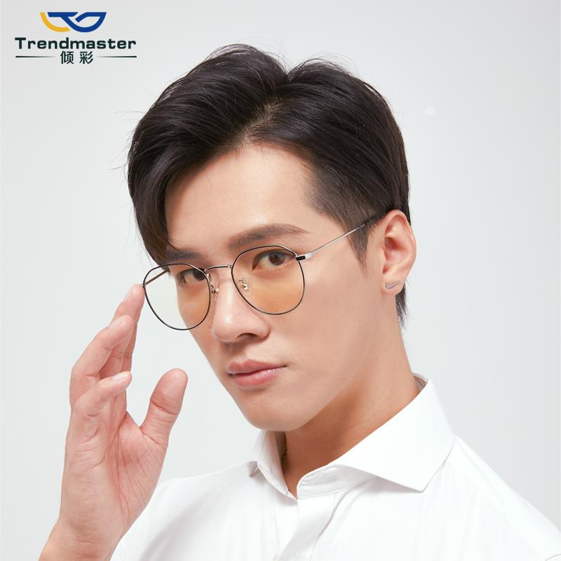 超軽い復古防ブルーレイ近視メガネ女性ネットの赤いタイプのすっぴんの神器の眼の額縁の男性韓国版の潮は度数を配合することができます。