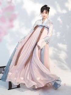 【落櫻賦復刻】齊胸襦裙櫻花刺繡上襦套裝漢服女原創春
