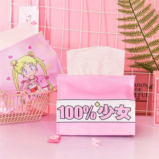 家用套纸巾桌面纸巾盒少女纸盒创意抽可爱宿舍卧室抽纸盒袋餐巾 Изображение 1