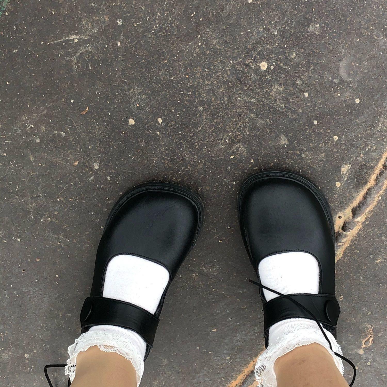 森女新款复古小皮鞋韩版百搭学生英伦风洛丽塔平底春秋单鞋魔术贴