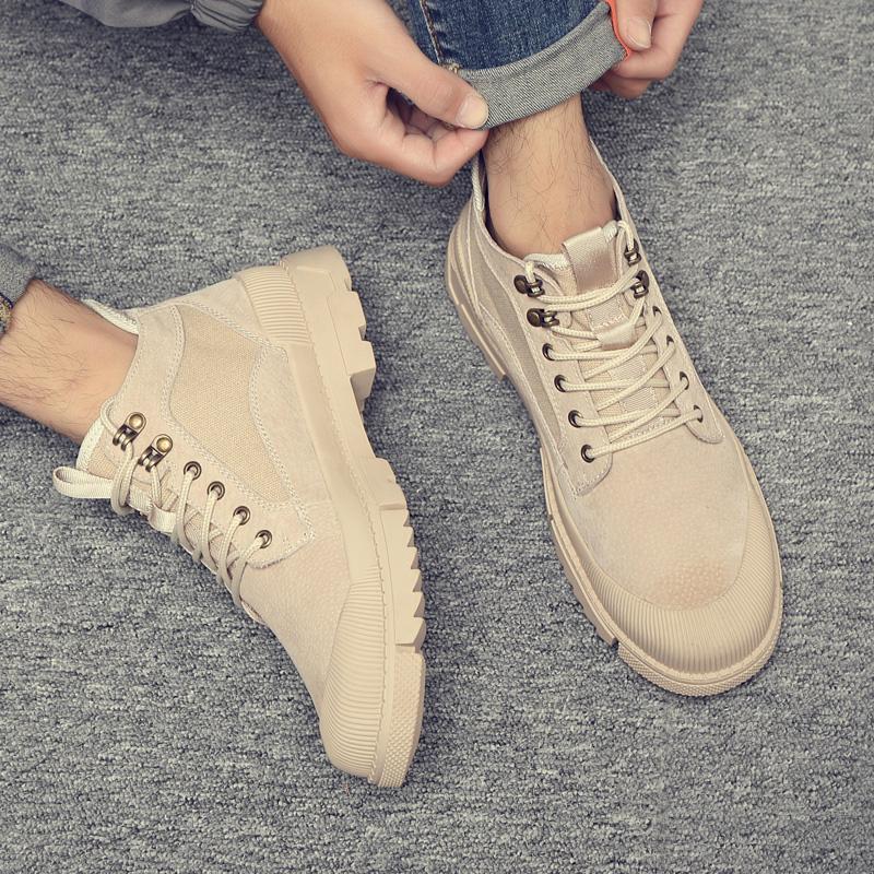 Martin boots mens 2020 autumn breathable outdoor desert boots Korean versatile fashion shoes mens casual British work wear boots