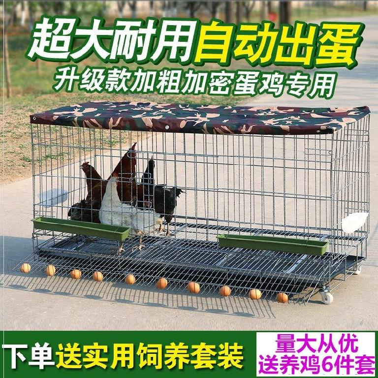 Chicken cage cage large cage manure pan pet nest hen laying hens wire mesh cage chicken raising equipment