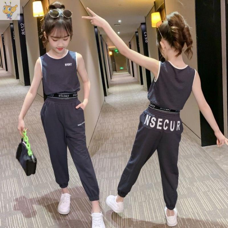 女童夏装套装2020新款洋气网红儿童装夏季女孩大童短袖运动两件套