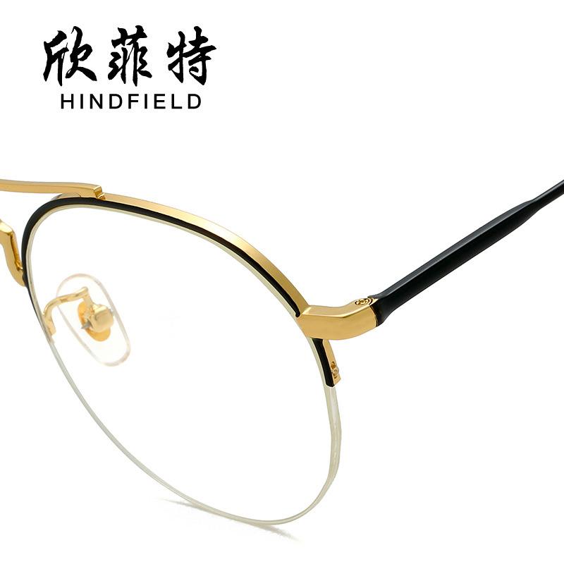 新款平光镜复古钓丝眼镜潮流时尚眼镜架配镜眼镜框