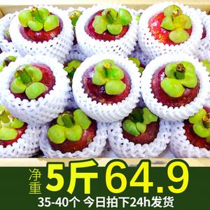 山竹5斤新鲜水果包邮整箱现季热带泰国山竹特级超大10斤装包邮