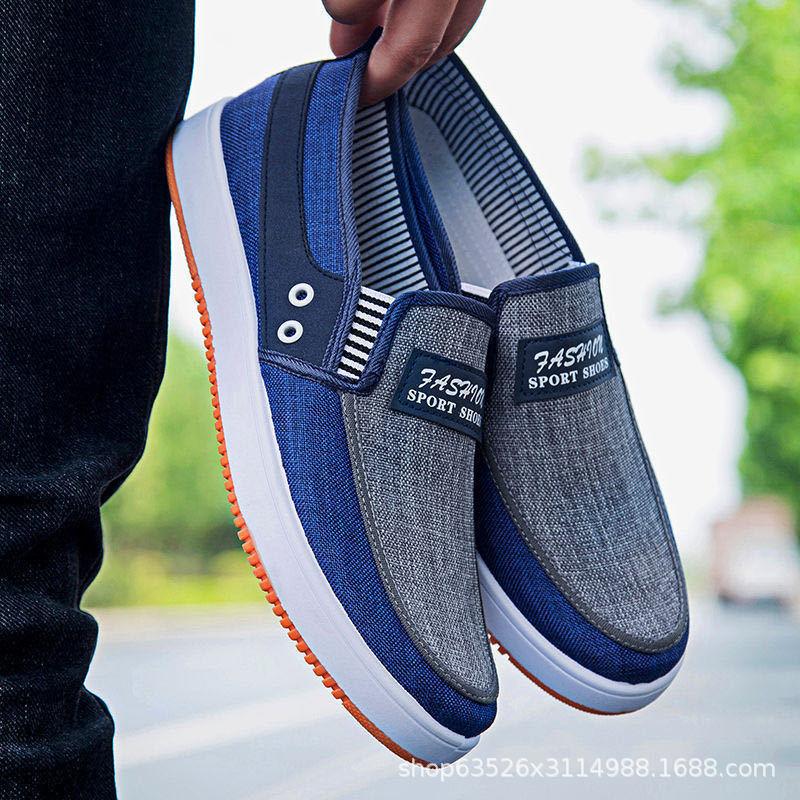 2021春季牛筋底帆布鞋老北京布鞋韩版牛仔布学生鞋低帮休闲男鞋子