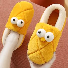 棉拖鞋女冬包跟可爱家用秋冬季情侣室内家居保暖月子鞋毛毛拖鞋男