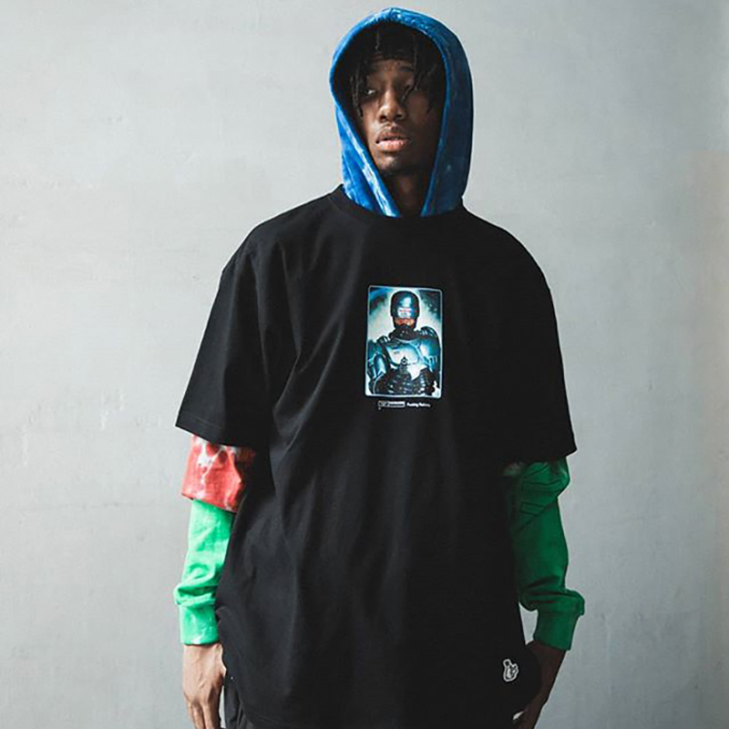 Ltri fashion brand FR2 spot snap rabbit metal mechanical war police print casual street style T-shirt short sleeve