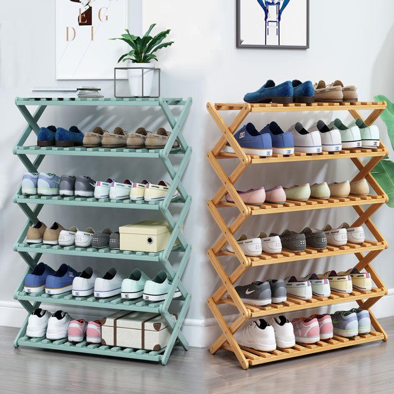 免安装门口鞋架简易家用经济型折叠置物架宿舍收纳神器省空间鞋柜