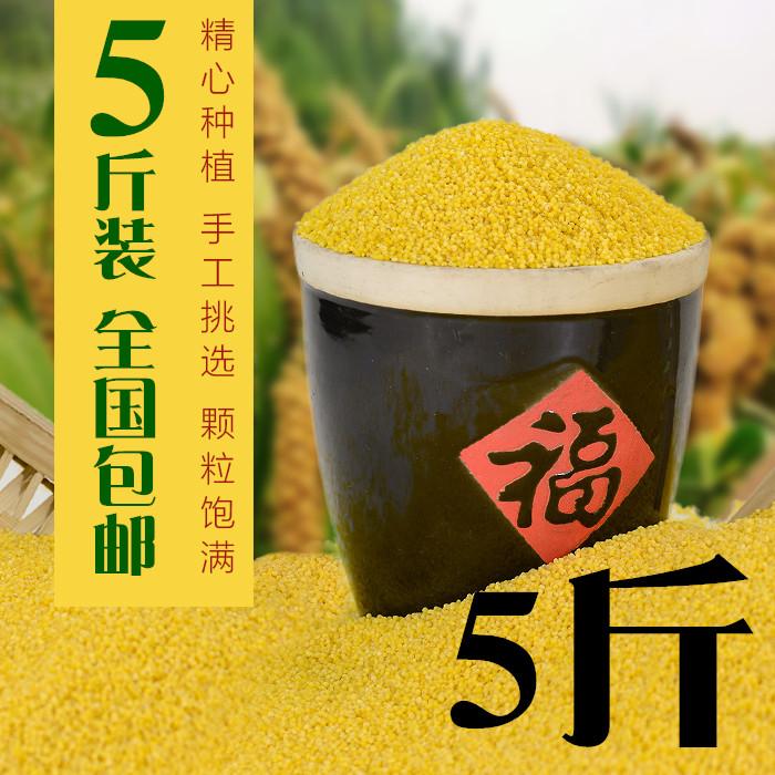 黄小米5斤小黄米粥新米东北特产级五谷杂粮米脂农家月子吃的小米