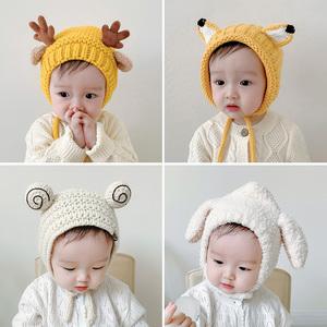 秋冬婴幼纯棉可爱男女宝宝婴儿帽子