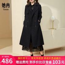 2021秋季大码新款女风衣大衣中长款大牌高端减龄春秋外套遮肉显瘦
