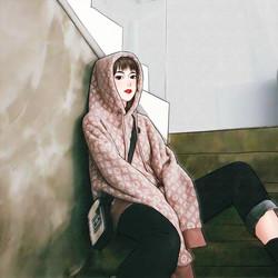大码2020秋冬新款超火cec慵懒风连帽卫衣女韩版宽松外穿百搭上衣