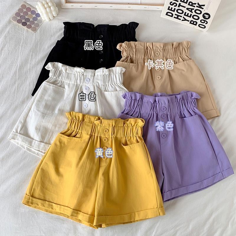 女童短裤夏装中大童夏季薄款2021新款女孩外穿百搭洋高腰夏天裤子