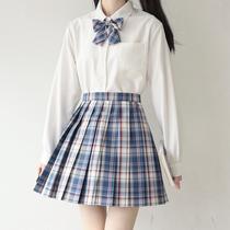女基础款黑白尖领圆领衬衫制服日系长袖角襟丸襟衬衫jk刺篇