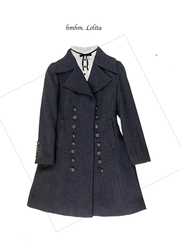 【HMHM】◆◆◆Mery HMHM◆◆◆魔法学院之羊毛军装风大衣