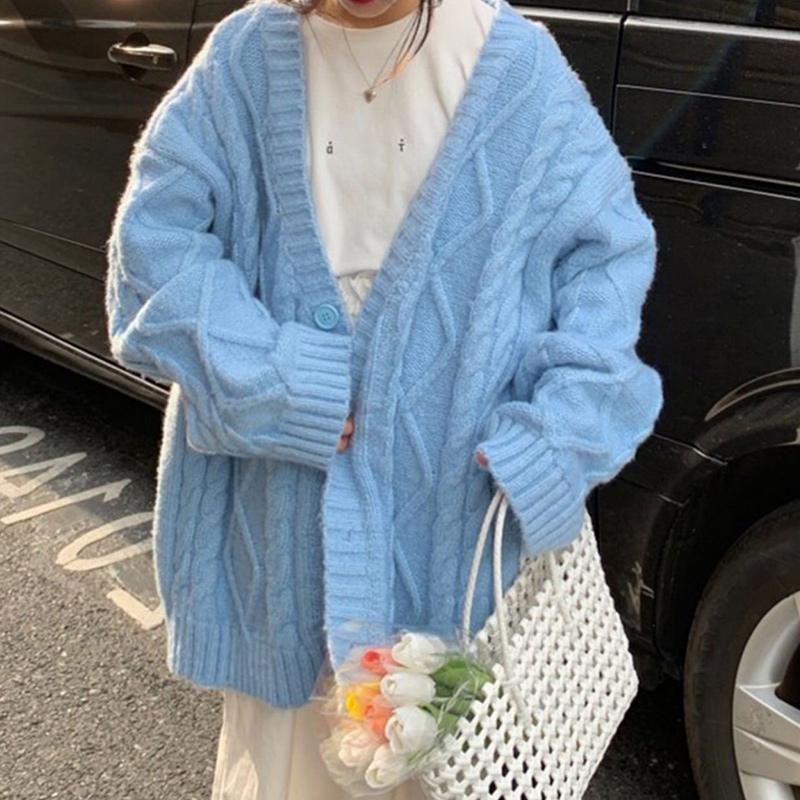 2020秋冬新款韩版宽松麻花外套开衫质量怎么样